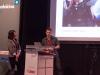 Sarah Estela und Nino Leitner im Vortrag