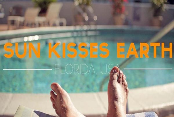 Sun kisses earth